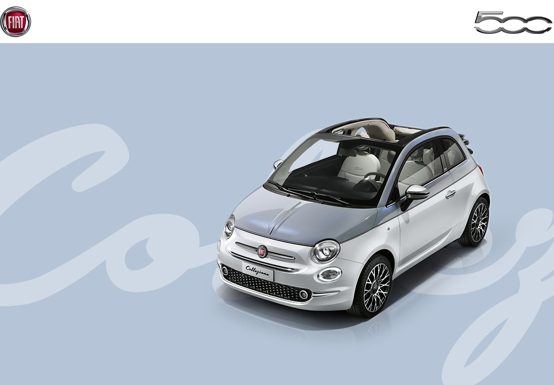 der neue fiat 500 collezione geboren um im rampenlicht zu. Black Bedroom Furniture Sets. Home Design Ideas