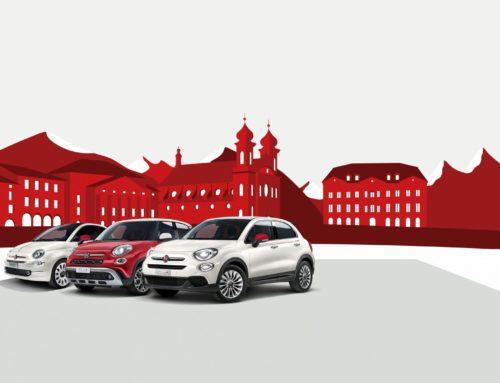 Fiat 500 Modelle im Schweizer Rot-Weiss-Look